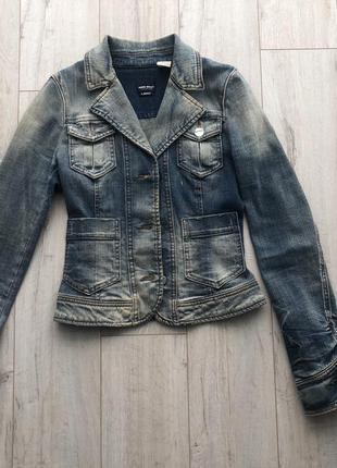 Джинсовые приталенный пиджак-куртка miss sixty