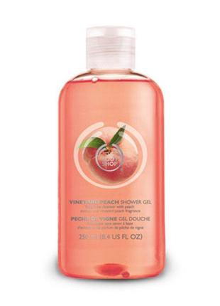 Гель для душа «персик» the body shop vineyard peach shower gel