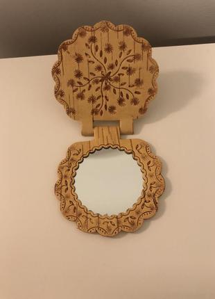 Зеркальце из бересты