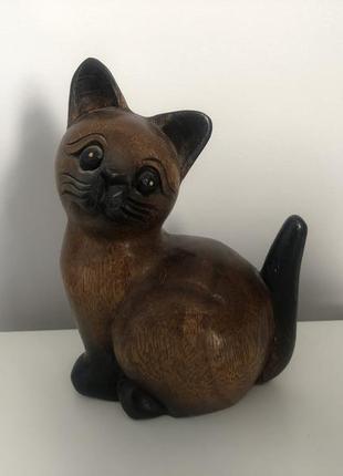 Статуэтка кот из дерева