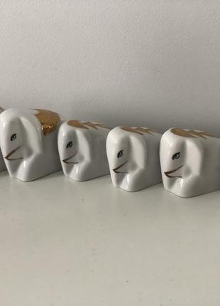 Статуэтки 6 фарфоровых слоников