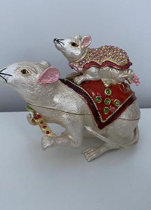 Статуэтка-шкатулка - 2 крысы 🐀- символ этого года! добрый