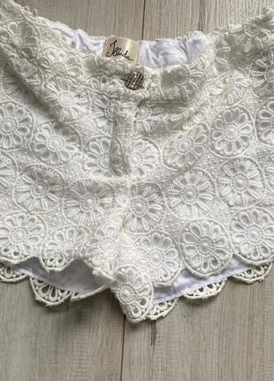 Кружевные шорты made in italy