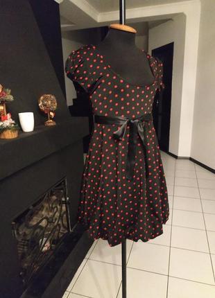 Ретро платье в красный горошек