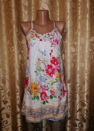 🌺🎀🌺красивая легкая женская новая майка, блузка в цветочный при...