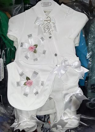 Нежный набор одежды на выписку или крещение