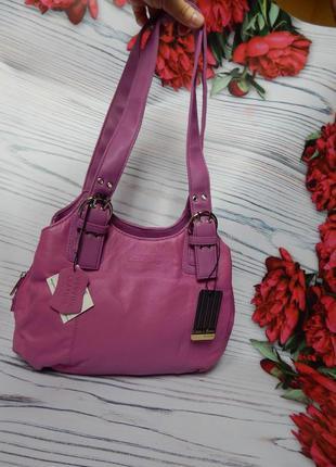 🌿невероятно крутая, стильная кожаная яркая сумка casa di borse🌿