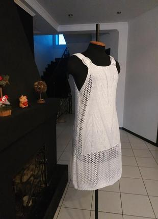 Летнее платье - туника пляжная ажур ажурная