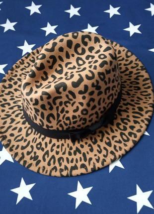 Шляпа федора унисекс с устойчивыми полями леопардовая бежевая ...