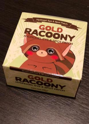 Гидрогелевые патчи под глаза tony moly gold racoony hydrogel e...