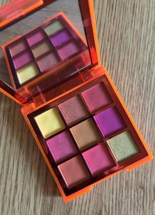 Палетка теней для век huda beauty neon orange obsessions