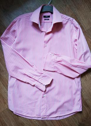 Мужская рубашка в полоску hugo boss