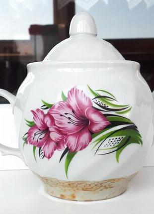 Чайник заварник розовые цветы