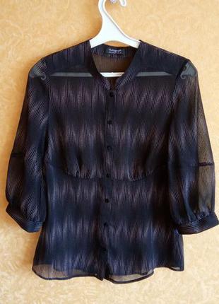 Шифоновая блузка/рубашка  marks & spencer/тотальная распродажа 🙀