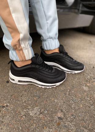 Nike air max 97 swarovski black white, женские кроссовки найк