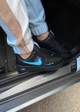 Nike air force 1 low black blue