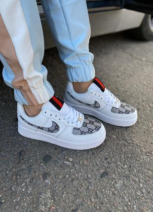 Nike air force 1 low white textiles