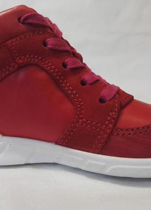 Кожаные ботинки полуботинки экко ecco first оригинал р.22 новы...