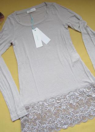 Качественный нежный вискозный свитер,кофта,туника,р.с,италия,сток