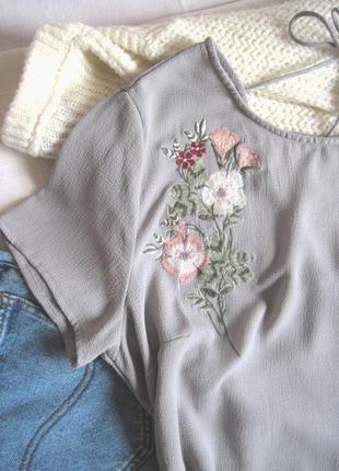 Удлинённая блузка с вышивкой и красивой спинкой new look #розв...
