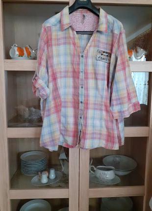 Очень стильная котоновая рубашка большого размера индия