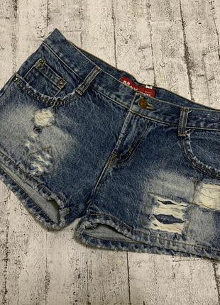 Короткие джинсовые шорты s-xs