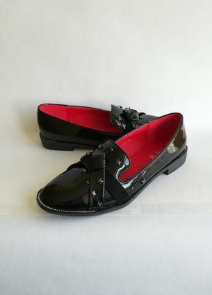 Лаковые лоферы лакові лофери туфли туфлі балетки лак