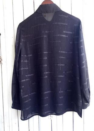 Легка чорна блузка блуза сорочка рубашка