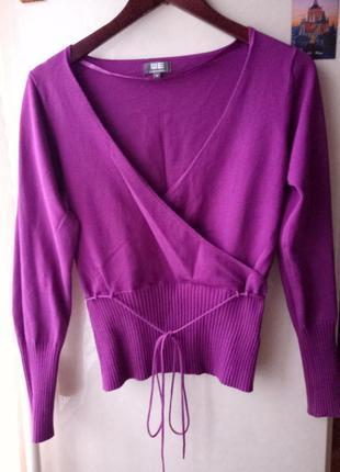 Кофта на запах светр свитер водолазка пуловер джемпер we