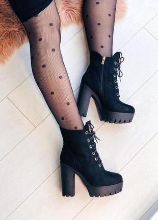 Зимние ботильоны ботильони ботинки черевики зима