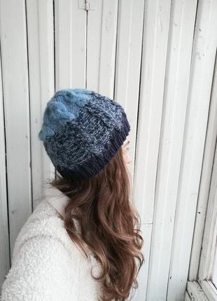 Вьязанная шапка шапочка
