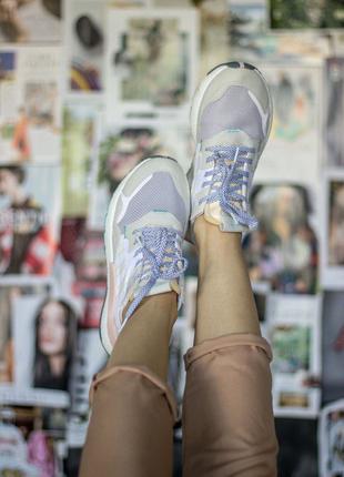 Женские кроссовки Adidas Nite Jogger White Pink