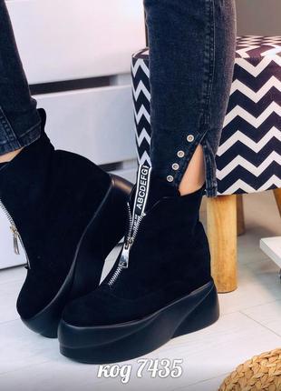 Ботинки на платформе черевики сапоги чоботи