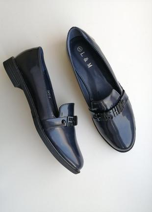 Лоферы лофери туфлі туфли лаковые туфельки балетки