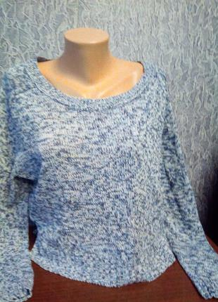 Укороченный свитер оверсайз. h&m