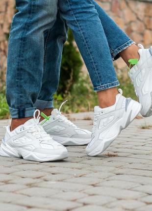 Nike m2k tekno🔺унисекс кроссовки найк м2к текно белые