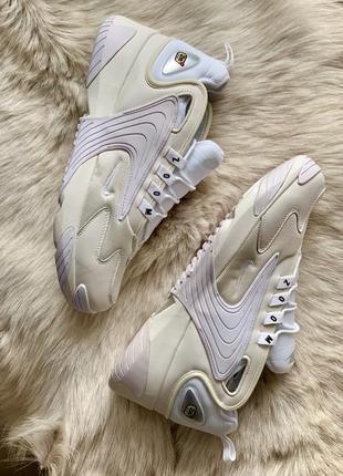 Nike wmns zoom 2k {white / beige} 🔺 унисекс кроссовки найк зум 2к