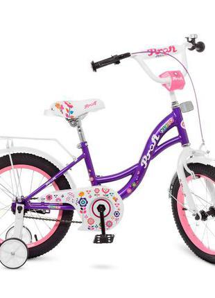 Детский велосипед Profi Bloom Y 1822-1 18 дюймов фиолетовый