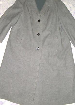 Серое пальто на пуговицах свободного кроя, Oversize