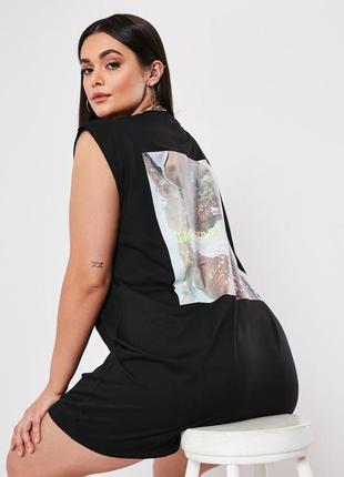 Missguided. товар из англии. платье футболка в гламурном стиле.