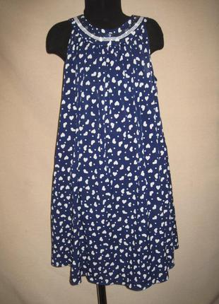 Платье в сердечках спенсер 10-11л