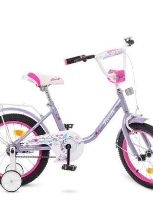 Детский велосипед Profi Flower Y 1883 18 дюймов фиолетовый