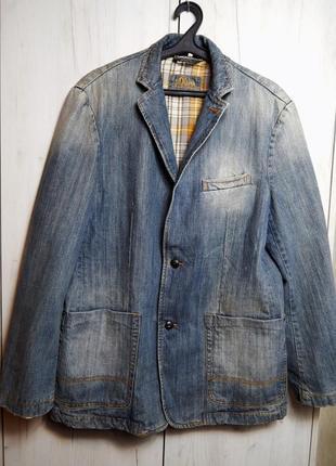 Джинсовый весенний пиджак