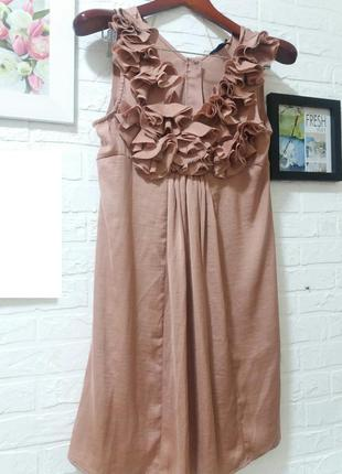 Платье  пыльная роза от h and m )