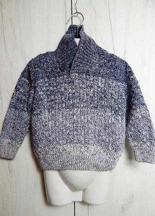 Вязаный свитер с высоким воротником