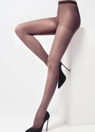 Тонкие темно коричневые прозрачные колготки breitex,цвет мокка...