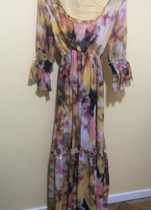 Шикарное платье в пол, от sassofono, р. 44-48.
