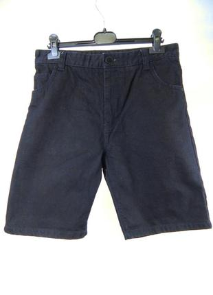 Классические темно-синие джинсовые шорты