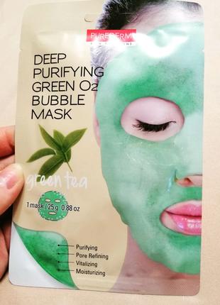 Киснева тканинна маска для очищення пор/ тканевая маска