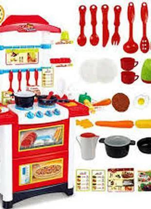 Большая детская кухня со звуком и светом 889-3 (высота 87 см) фот